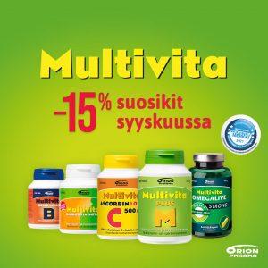 Multivita-tuotteita -15%